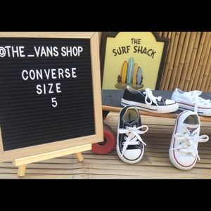 Two Pairs of Converse All Star Sneakers Baby SZ 5